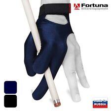 Fortuna Billiard Pool Glove - Classic Series - Dark Blue w/Strap - for Left hand