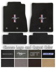 Ford Mustang 4pc Classic Loop Carpet Floor Mats - Choose Color & Logo