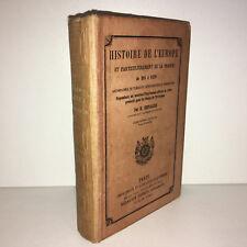 H. Chevallier HISTOIRE L'EUROPE ET LA FRANCE de 395 à 1270 Delalain 1882 - DC43D
