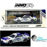 "INNO64 NISSAN SKYLINE GTR R32 #1 ""UNISIA JECS"" MACAU GUIA RACE 1991"