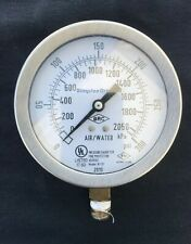 """Pressure Gauge for Fire Protection (Air / Water) BRC W101 4"""" 2050 kPa / 300 psi"""