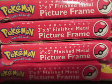 FOUR Very Rare 1999 Pokemon Pewter Picture Frame Charming Butterfree Pikachu NIB