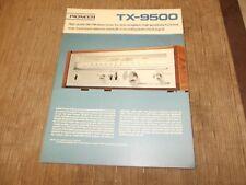 Pioneer TX-9500 Stereo Tuner original vintage Catalogue