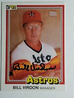 1981 Donruss Bill Virdon Auto Autograph Card Houston Astros Signed #384