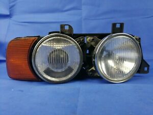 BMW E34 5-Series RIGHT Factory Headlight Lamp With Turn Signal Hella E32
