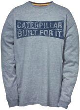 CAT Caterpillar CURVO Letrero Camiseta Manga Larga Hombre Resistente Trabajo