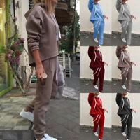 Women's Long Sleeve Pullover Pants Sportswear Pullover Sweatsuits Tracksuit Set