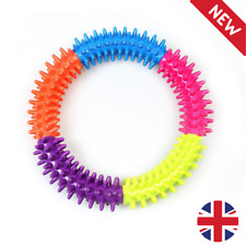 UK 2x Puppy Pet Toys for Small Dogs Resistant To Bite Rubber Circle Dog Teething