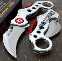 "7.75"" Overall TAC-FORCE Assisted Open Karambit Blade Folding Pocket Knife"