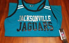 Womens Sexy NWT Official JACKSONVILLE JAGUARS NFL BLING sequins TankTop Medium
