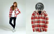 Ladies SUPERDRY Plaid Thick Hooded Shirt Lumberjack Hood Super Dry Medium M
