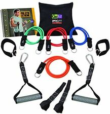 Pro Gym Set, Personal Workout Kit Rubber Resistance Tubes Handles Straps New
