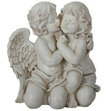 Angel Kissing A Child Statue | Garden Ornament Sculpture BIG 41cm