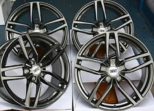 "17"" G DRS ALLOY WHEELS FITS 5X100 AUDI VW CRYSLER SEAT SKODA TOYOTA VOLKSWAGEN"