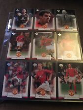 Manchester United 1997 Upper Deck complete set 1-90. David Beckham Ryan Giggs
