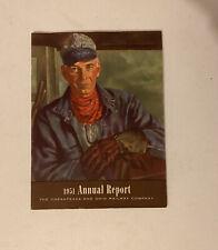 1951 Chesapeak and Ohio Railway Annual Report Railroad **Free Shipping**