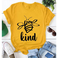 Bee Kind Graphic Funny T-shirt Trendy Women Inspirational Tumblr Hipster Tee Top