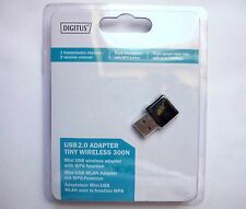 WLAN Stick 300 Mbit Wireless Lan USB 2.0 Adapter Stick DIGITUS DN-70542 Win 10