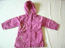 Manteau de demi-saison 2 ans fushia - MARËSE avec capuche