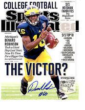 Denard Robinson Reprinted auto signed 8x10 football photo Michigan Go Blue