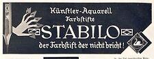 Stabilo Farbstift Schwan Reklame 1928 Werbung Bleistift Füller Stift Ad Künstler