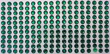 198 STRASS ADESIVI COLORE VERDE 6 mm  CORPO UNGHIE NAILART DECORAZIONI