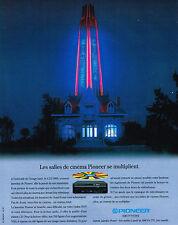 PUBLICITE  ADVERTISING  1991    PIONEER  le CLD 2600   magnétoscope