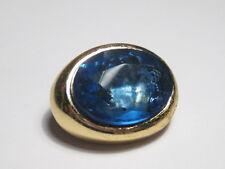 """Vintage Goldtone Faux Glue Gemstone Pin or Brooch - 1.25"""" long"""