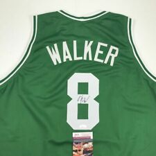 Autographed/Signed KEMBA WALKER Boston Green Basketball Jersey JSA COA Auto
