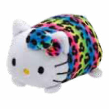 "TY Beanie Babies Teeny Rainbow Hello Kitty stackable 3"" Plush NEW w/ Heart Tag"