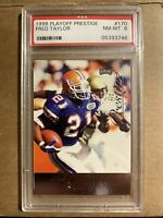 1998 FRED TAYLOR PLAYOFF PRESTIGE ROOKIE RC #170 PSA 8 GATORS JAGUARS