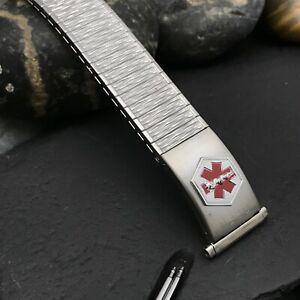 rare Speidel USA Medilog Stainless Steel Valencia 19mm nos Vintage Watch Band