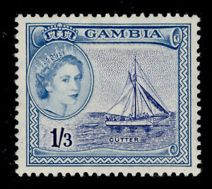 GAMBIA QEII SG179, 1s 3d ultramarine & pale blue, M MINT. Cat £19.