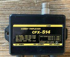 COMET CFX-514 50/146/446 MHZ TRIPLEXER W/ COAX LEADS