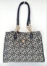TOMMY HILFIGER Bag Shoulder Bag Handbag Purse SHOPPER Black Retails $85