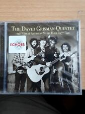 The David Grisman Quintet - Great American Music Hall 1977 (2017)  CD  NEW