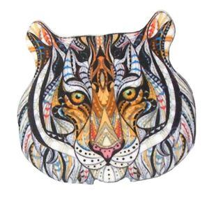 Tiger Lion Head Face Brooch Pin Acrylic Print Vintage Style Women Dress Jewelry