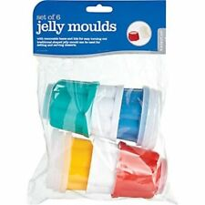 Kitchen Craft 70mm X 60mm Tall Plastic Jelly Moulds X 6 Kcjellyset