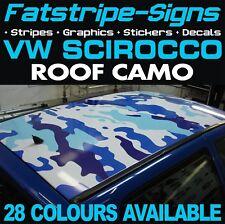 VW SCIROCCO CAMO ROOF GRAPHICS STICKERS STRIPES DECALS VOLKSWAGEN 1.4 2.0 R D