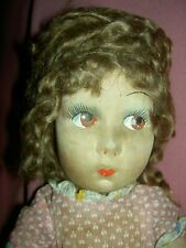 Cute, c1930s, French Gre-Poir type, jointed cloth doll