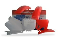 POLISPORT SET PLASTIQUE COMPLET CROSS MX ROUGE BLANC HONDA CR 250 1995-1996