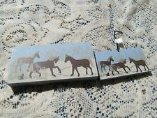 Cat'S Meow Village Wooden Shelf Sitter/Xmas Ornament Corolla Village Wild Horses