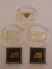 Lot of (5) Vintage 1950's Cooper Bessemer Glass Cigarette Ashtrays by Safex