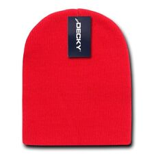 Red Beanie Hat Cap Skull Ski Snowboard Winter Warm Knit Hats Cuffless Beanies