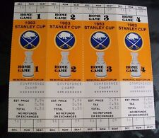 VINTAGE BUFFALO SABRES FULL TICKETS 1983 STANLEY CUP PLAYOFF MEMORIAL AUDITORIUM