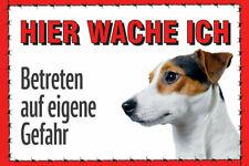 Schild Hund Jack Russell Terrier - Hier wache ich... - Aludibond