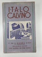 Italo Calvino Box Set If On Winter's Night Traveler Invisible Cities Baron Trees
