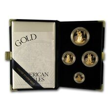 2002-W 4-Coin Proof Gold American Eagle Set (w/Box & COA) - SKU #4904