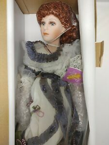 """Paradise Galleries Dreams and Treasures Julia 21"""" Tall Porcelain Doll Red Hair"""