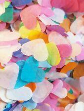 Rainbow colour mix Tissue Paper Heart confetti Wedding Christmas crackers
